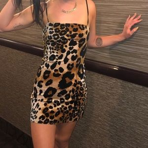 Velvet cheetah dress